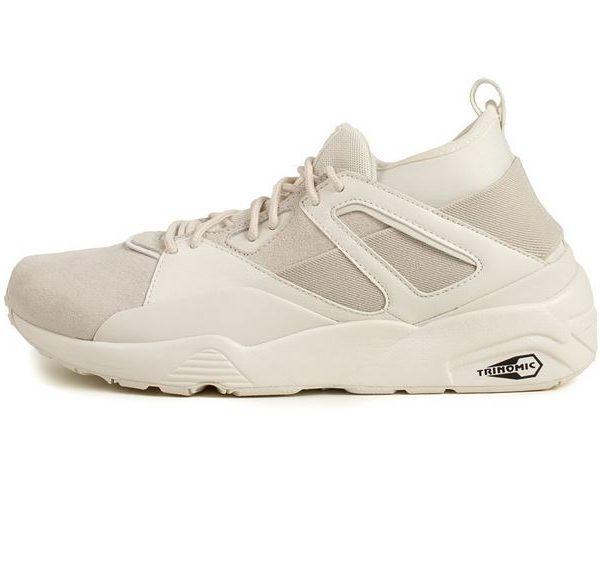 Puma creame farvet sneaker trinomic creamefarvet sko hudfarvet