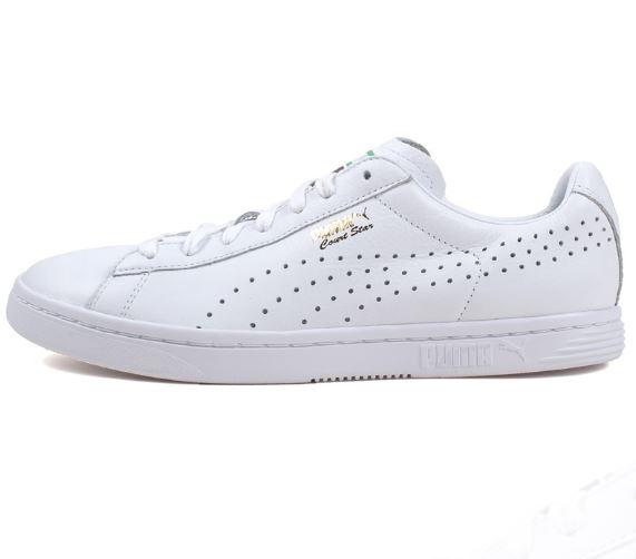 Lav puma sneaker med lufthuller 4 rækker små huller ned langs siden på skoen sneakeren
