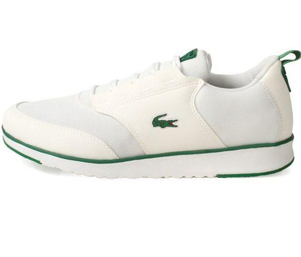 Lacose sneakers grønne detaljer hvid sneaker