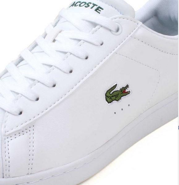 d3371e4001df Lacoste Carnaby Evo White White • Hvide Sneakers