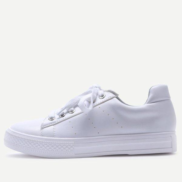 Sneakers til kvinder i hvid fra veraldo sko low cut